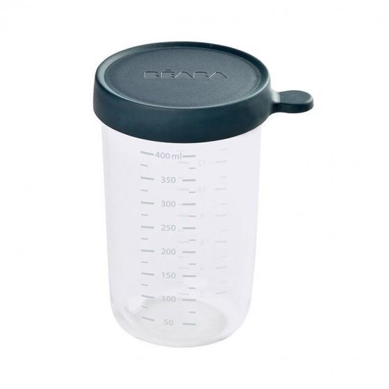 Beaba Pojemnik sloiczek szklany z hermetycznym zamknieciem 400 ml dark blue