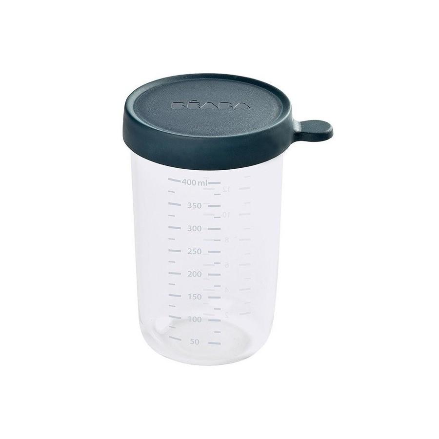 Beaba Pojemnik sloiczek szklany z hermetycznym zamknieciem 250 ml dark blue