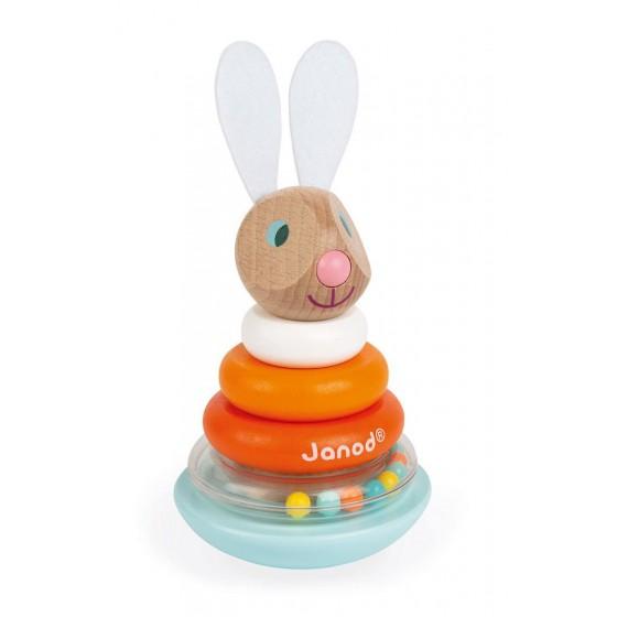 JANOD wooden pyramid puzzle Humpty-Dumpty Rabbit