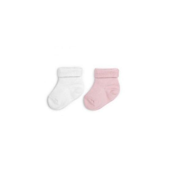 ColorStories - Skarpetki bezuciskowe 2 pary różowe i białe 3-6m-cy