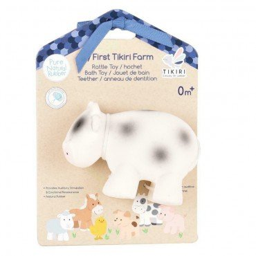 Tikiri TEETHING TOY COW FARM IN THE BOX