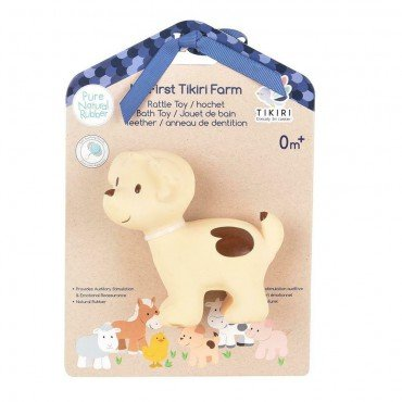 Tikiri TEETHING FARM TOY DOG IN THE BOX