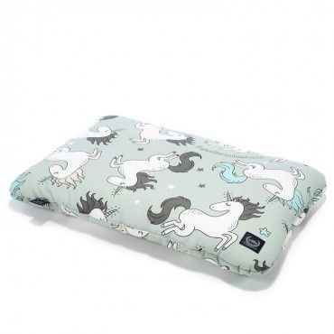 LA MILLOU BY MAJA BOHOSIEWICZ BAMBOO BED PILLOW 40X60CM UNICORN RAINBOW KNIGHT MIĘTA