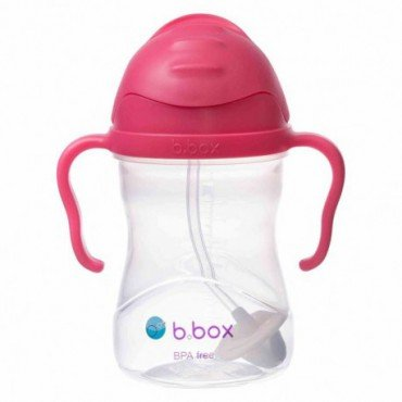 * NEW * b.box innovative bottle with a straw b.box raspberry