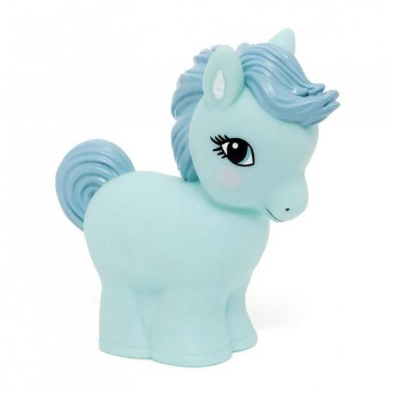 Petit Monkey - Soft pastel lamp LED blue pony