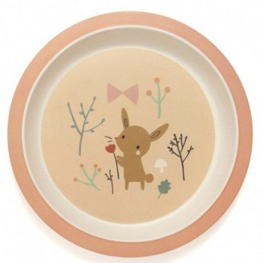 Petit Monkey - a flat plate with a bamboo rant Grasshopper Rabbit