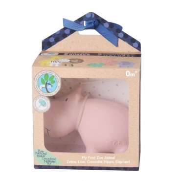 Tikiri TEETHING TOY HIPPO IN THE BOX