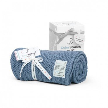 ColorStories - Blanket CottonClassic S - OCEAN BLUE