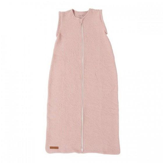 Little Dutch Śpiworek do spania bawełniany bez rękawków 90cm pure pink
