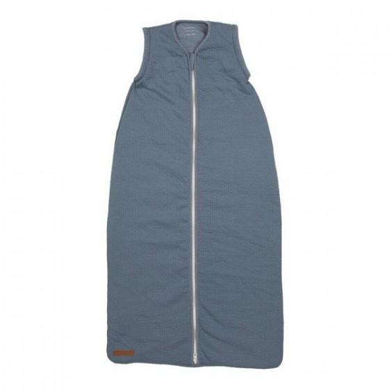 Little Dutch Śpiworek do spania bawełniany bez rękawków 90cm pure blue