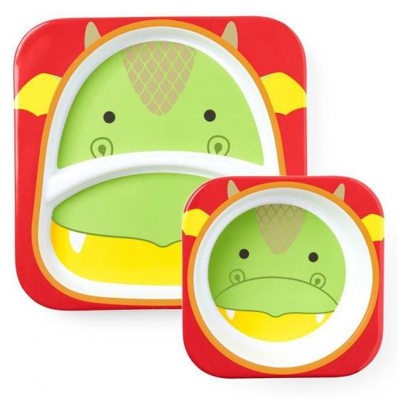 Skip Hop Zoo Dragon set mealtime