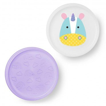 Skip Hop plate set 2 pc. Zoo Unicorn