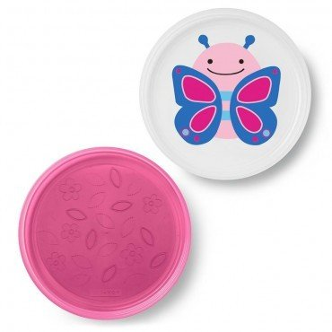 Skip Hop plate set 2 pc. Butterfly Zoo