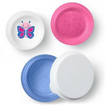 Skip Hop Bowl Set with Lid 3 pc. Butterfly Zoo