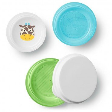 Skip Hop Bowl Set with Lid 3 pcs. Zoo Giraffe