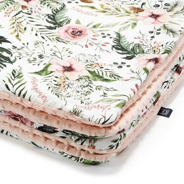 La Millou MEDIUM BLANKET - WILD BLOSSOM - POWDER PINK