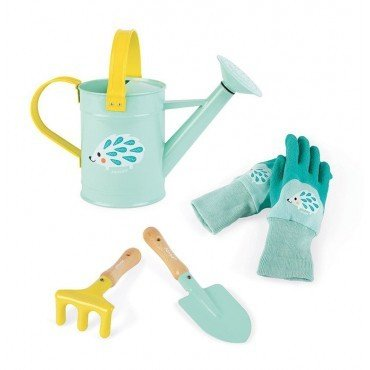 Janod, Little gardener with a watering can set BLUE