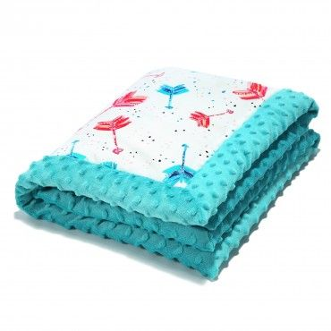 NEW-BORN BLANKET - BOHO NEON ARROWS - TEAL