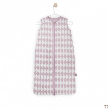 Sleeping bag Diamond check Jollein dirty pink 6-18 months