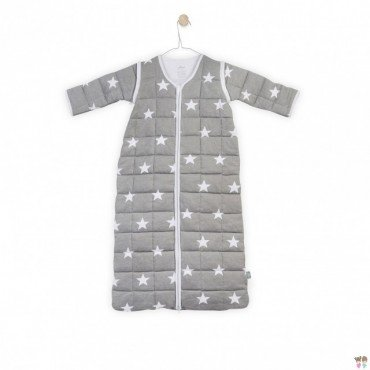Jollein Sleeping bag to sleep with removable sleeves Gray Little Star 0-6 months