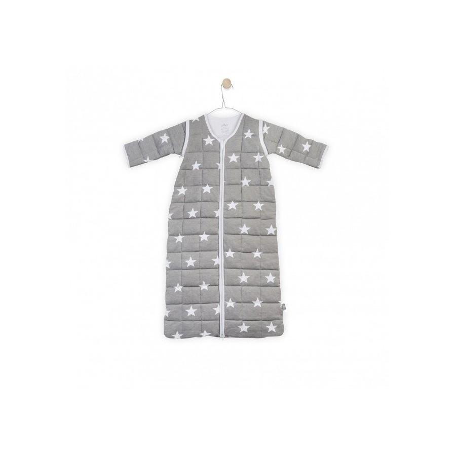 Jollein Śpiworek spania z odpinanymi rękawami Szary Little star 0-6 miesięcy