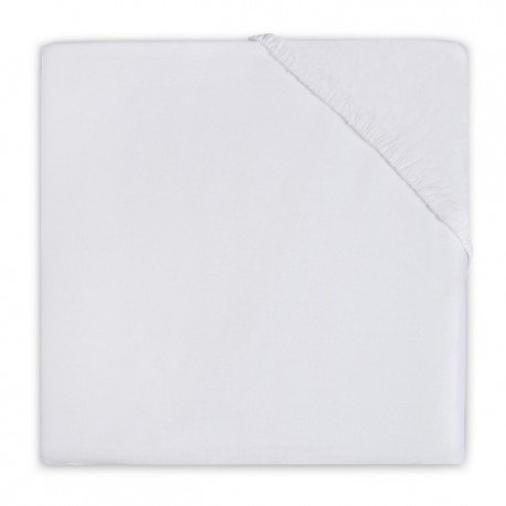 Jollein sheet with rubber for baby White