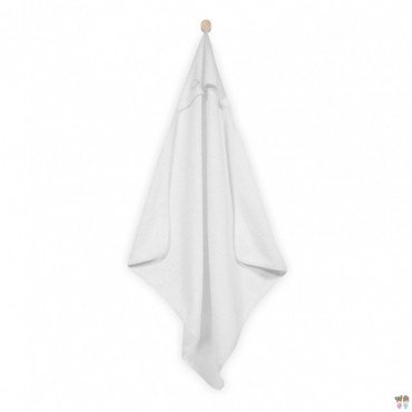 Jollein soft towel with hood 75x75cm White