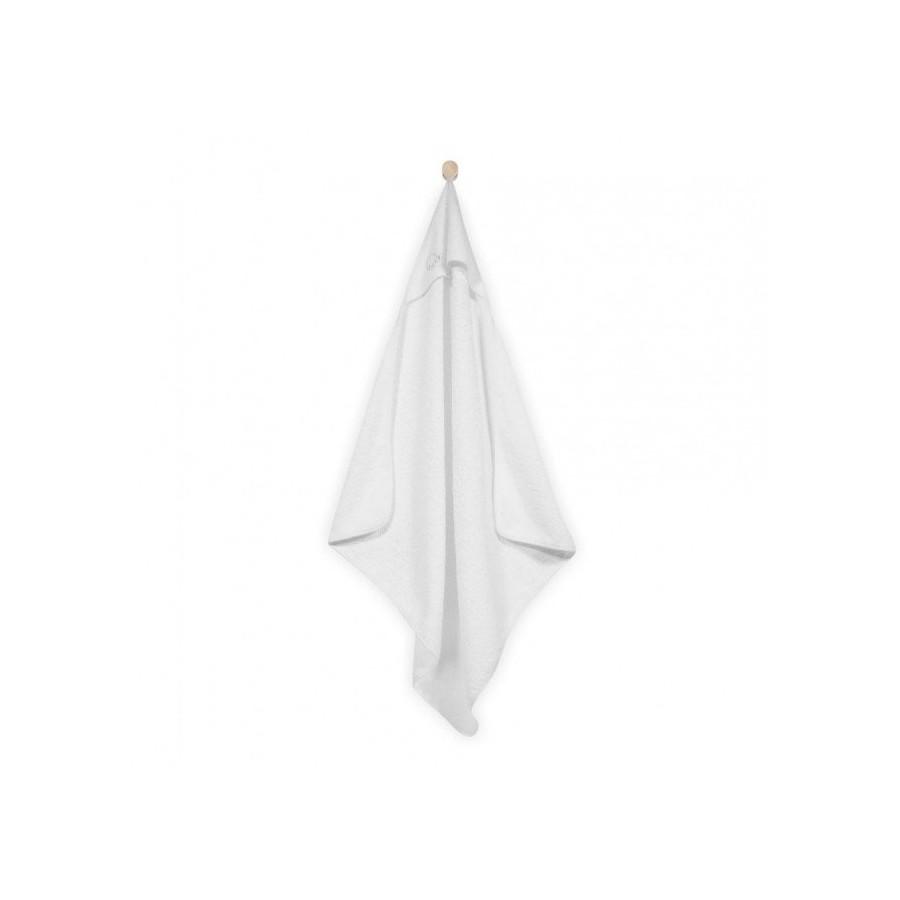 Jollein Mięciutki ręcznik z kapturem 75x75cm Biały