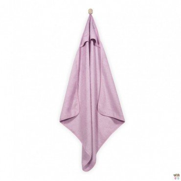Jollein soft towel with hood 75x75cm Pink