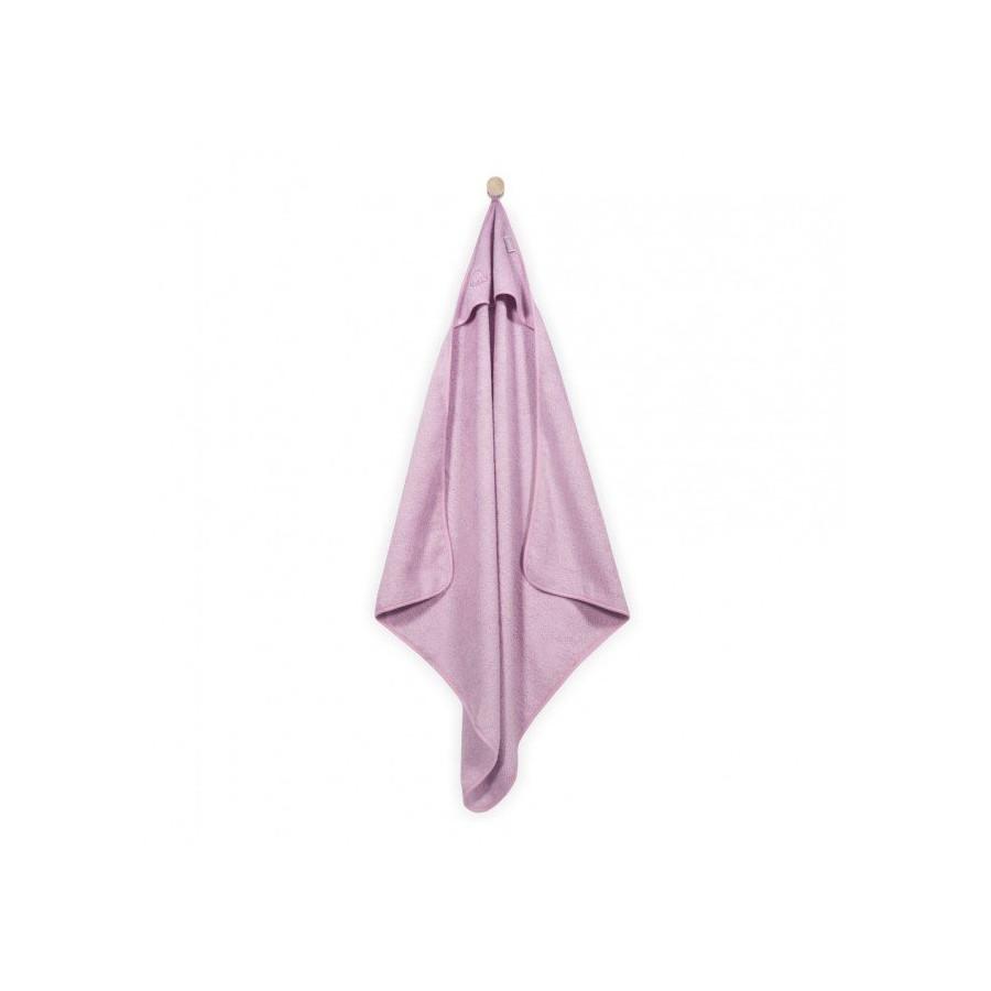 Jollein Mięciutki ręcznik z kapturem 75x75cm Różowy