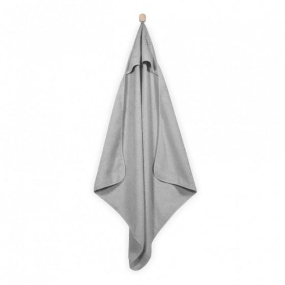 Jollein Mięciutki ręcznik z kapturem 75x75cm Szary