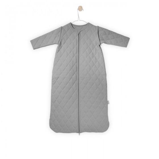 Jollein Sleeping bag to sleep with detachable sleeves Light gray mini waffle 0-6 months