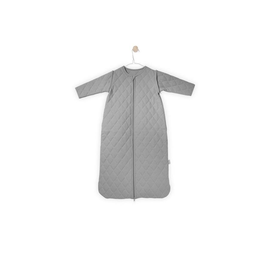 Jollein Śpiworek do spania z odpinanymi rękawami Mini waffle Jasny szary 0-6 miesięcy