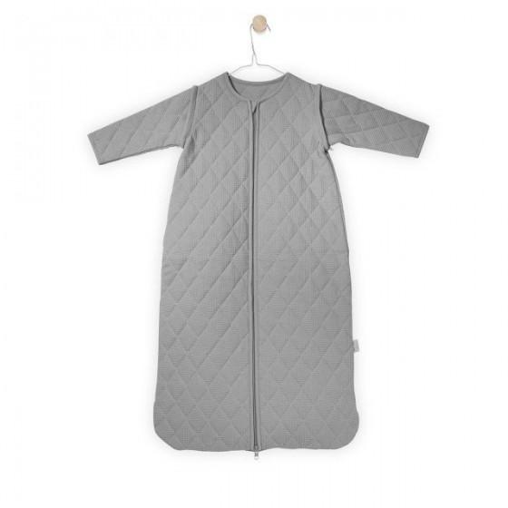 Jollein Śpiworek do spania z odpinanymi rękawami Mini waffle Jasny szary 6-18 miesięcy