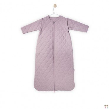 Jollein Sleeping bag to sleep with removable sleeves mini waffle Dirty rose 0-6 months