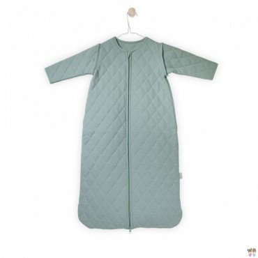 Jollein Sleeping bag to sleep with removable sleeves mini waffle Mint 0-6 months