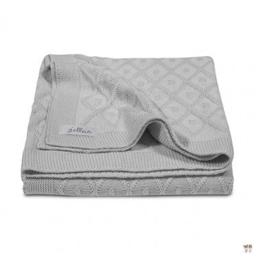 Jollein blanket woven check Diamond Vintage gray - gray