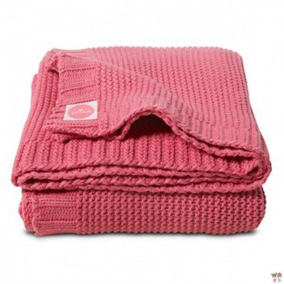 Jollein woven blanket Funky Chunky Raspberry