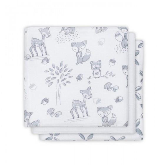 Jollein Cotton handkerchief 31x31cm Forest Friends 3 pieces