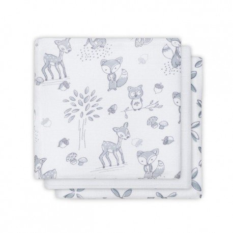 Jollein Cotton handkerchief 31x31cm Forest Friends 3 pieces