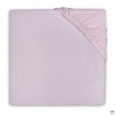 Jollein sheet with rubber to bed bright pink