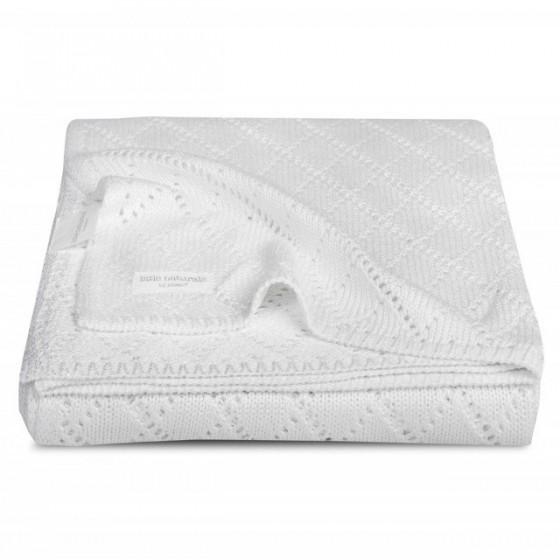 Jollein Bambusowy koc Crochet Biały