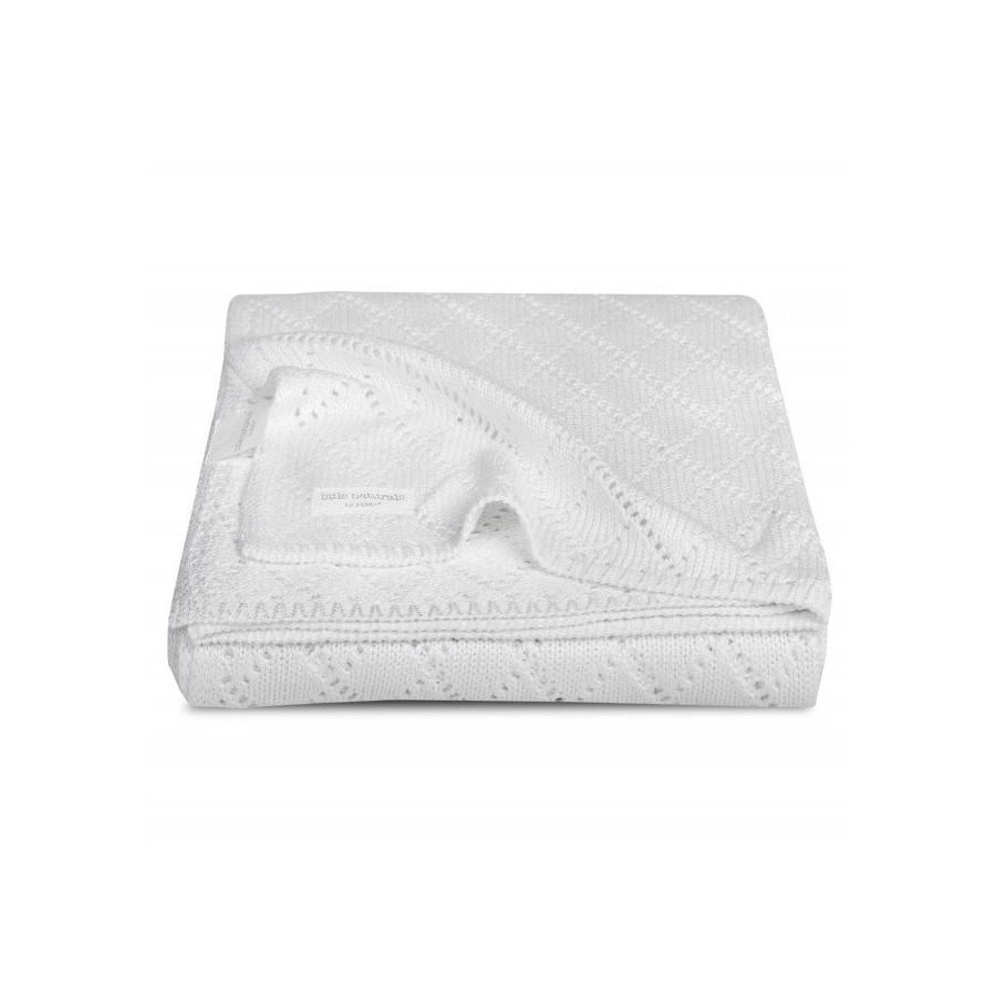 Jollein Bamboo Crochet blanket 75x100cm White