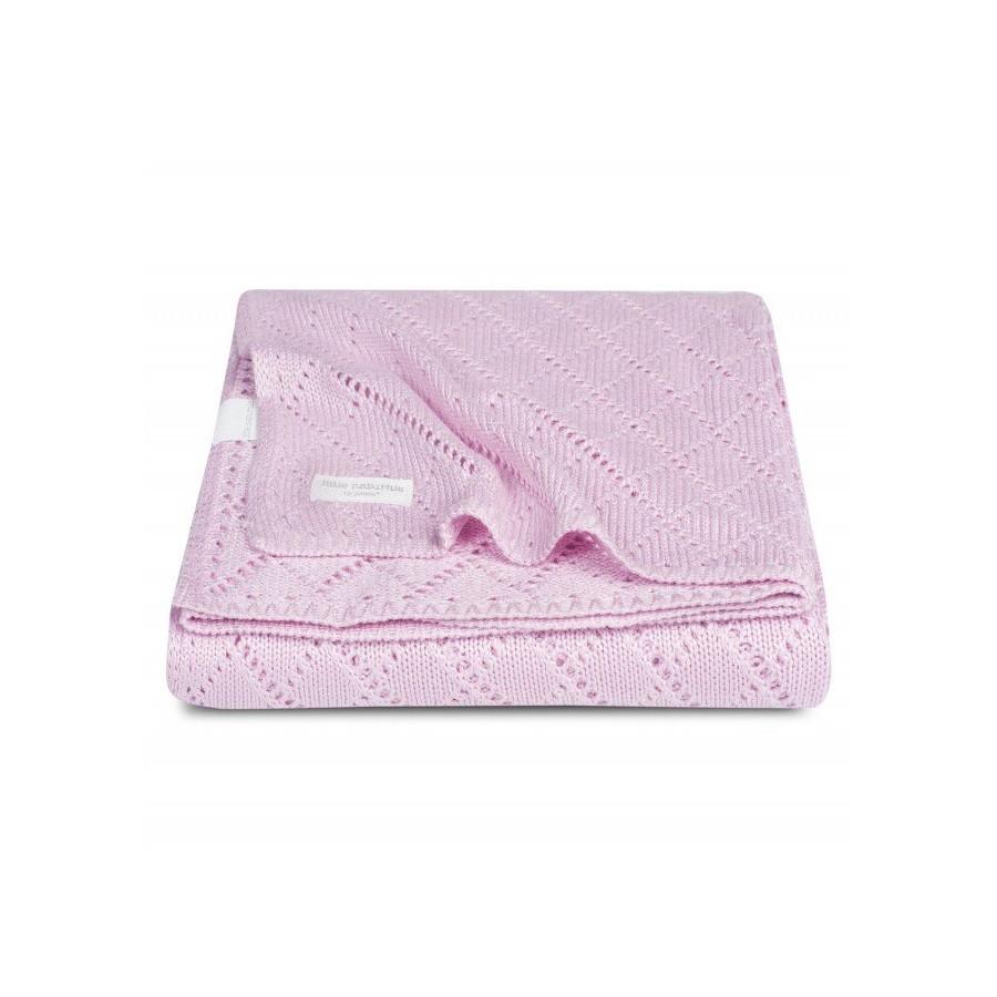 Jollein blanket 75x100cm Bamboo Crochet Pink