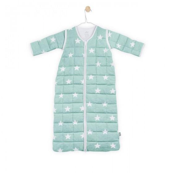 Jollein Śpiworek do spania z odpinanymi rękawami Miętowy Little star 6-18 miesięcy
