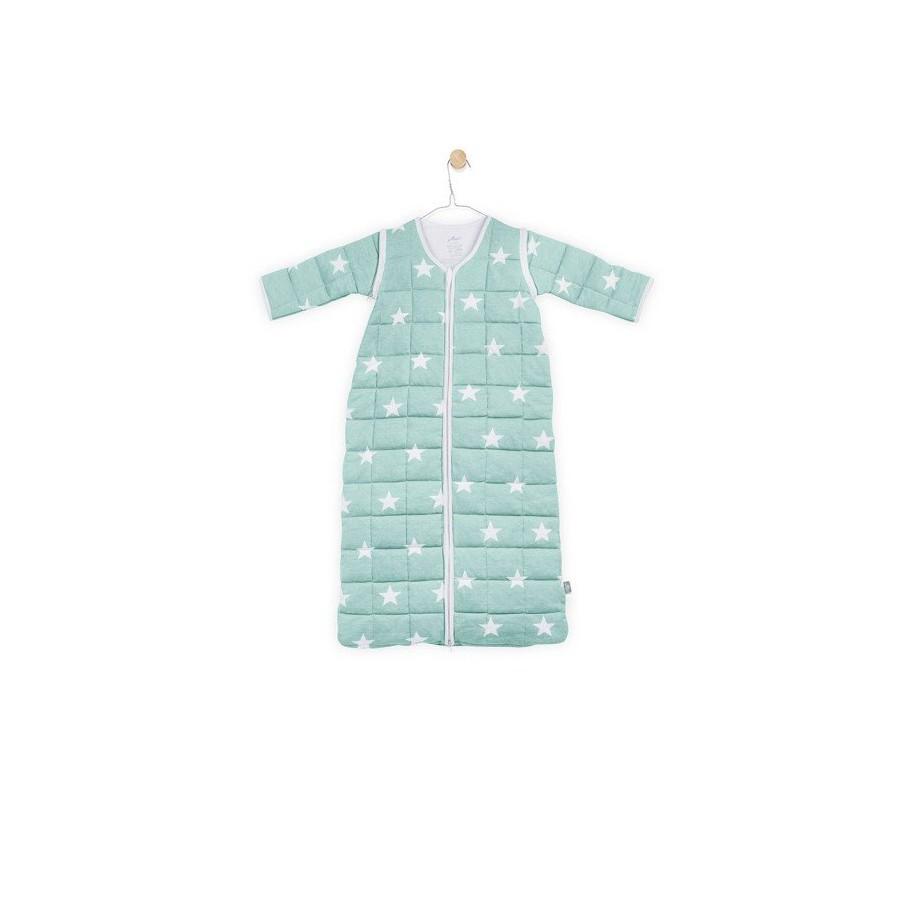 Jollein Śpiworek do spania z odpinanymi rękawami Miętowy Little star 0-6 miesięcy