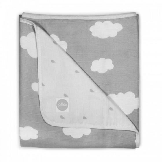 Jollein muslin blanket 75x100 cm gray sky