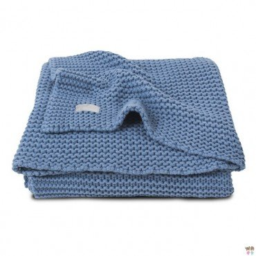 Jollein Blanket Heavy Knit Cool Blue 75x100cm