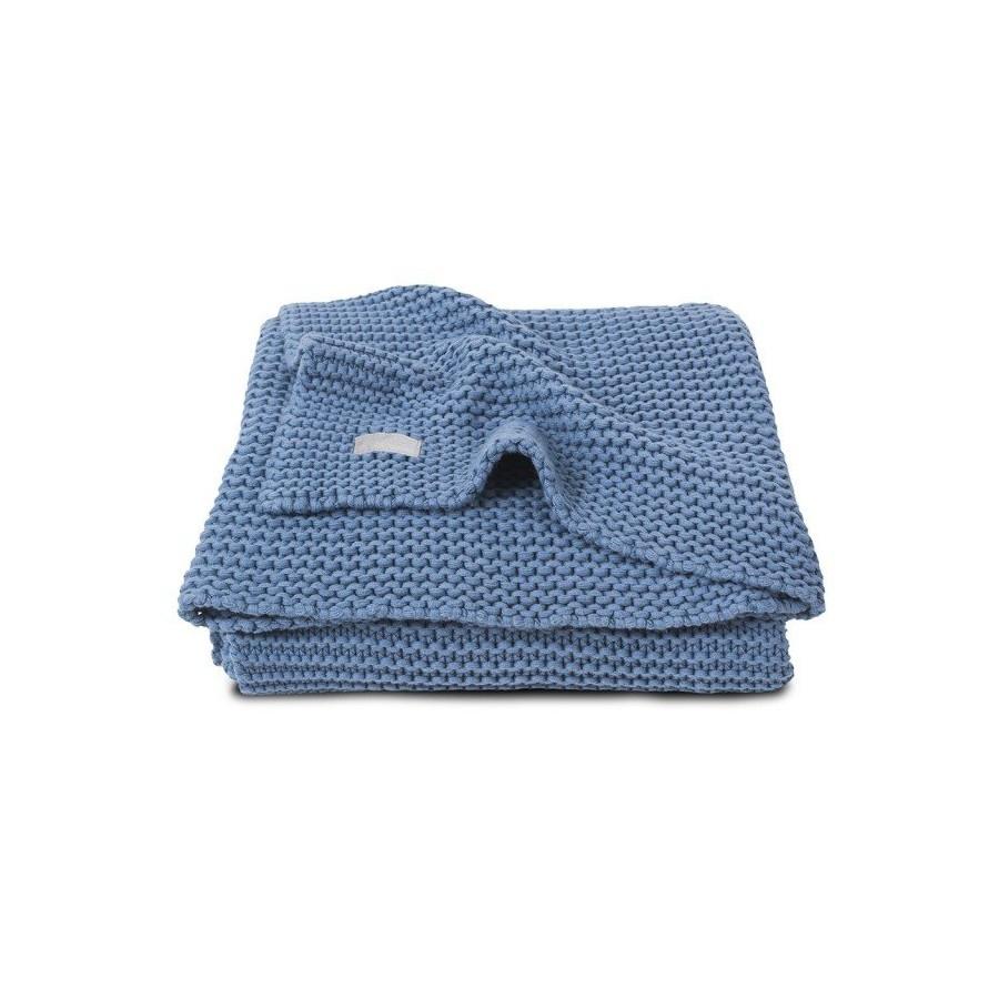 Jollein Koc Heavy Knit Chłodny błękit 75x100cm