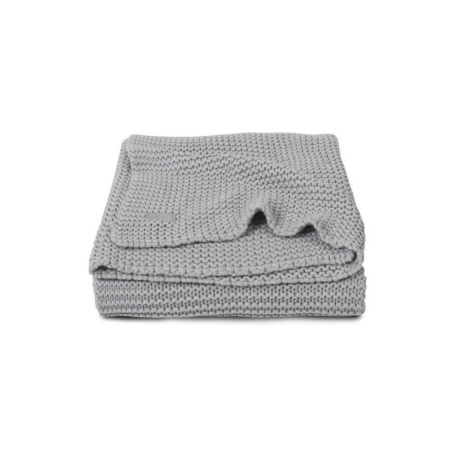 Jollein Koc Heavy Knit Popielaty szary 75x100cm